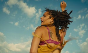 'The emotional tension and possible political satire and social commentary are all suspended in a great deal of sunlit ambient moodscaping and no particular place to go' … Sacha Lane as Star in American Honey