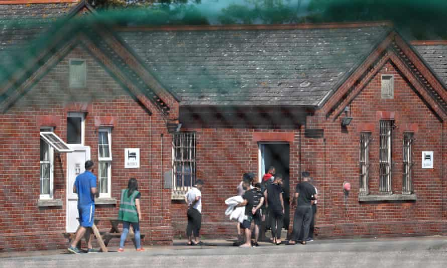 People staying at Napier Barracks in Folkestone, Kent