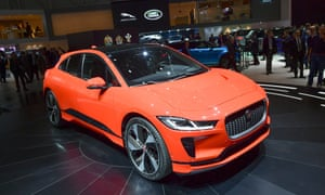 A picture of Jaguar's I-Pace electric vehicle.