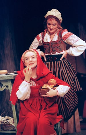 Sheridan Smith and Sophie Thompson in Into the Woods, Donmar Warehouse, London, 1998.