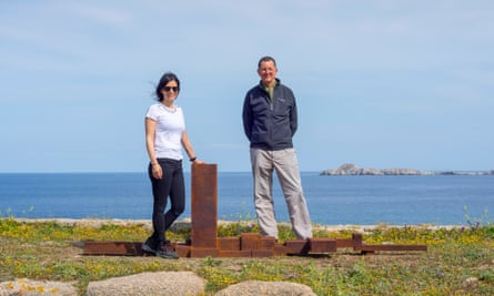 Gormley with Elina Kountouri, co-curator and director of Neon.