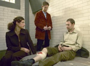 Francis Lee, far right, on Heartbeat with Clare Wille and Jonathan Kerrigan.