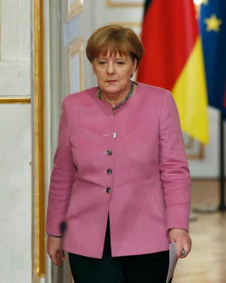 German chancellor Angela Merkel in Paris on Friday to discuss the EU summit with Turkey on migrants.