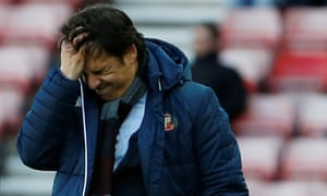 Sunderland's manager Chris Coleman registers his dismay during Saturday's torturous 2-0 home defeat by Brentford.