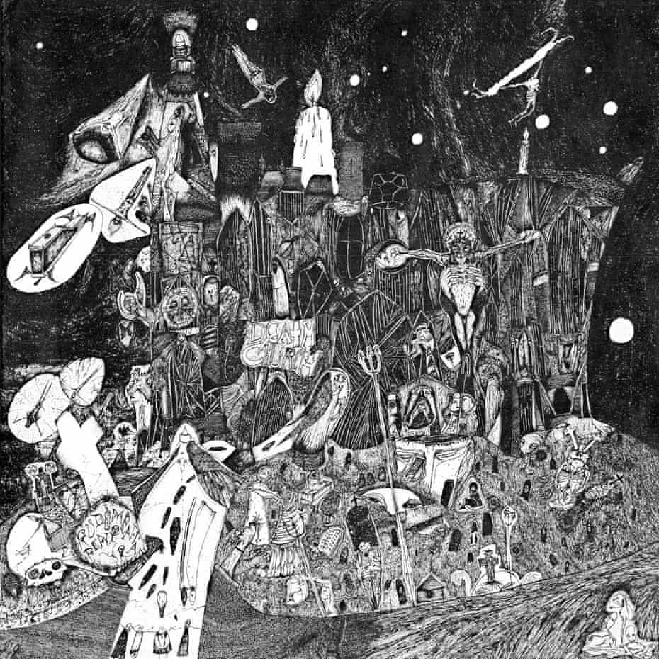 جلد آلبوم کلیسای مرگ ، ساخته شده توسط نیک بلینکو.