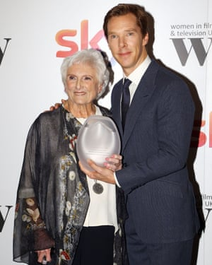 With Benedict Cumberbatch, Sherlock star, at the Women in Film and TV awards