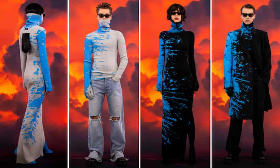 The Vetements' pieces featuring a blue paint effect that have caused controversy
