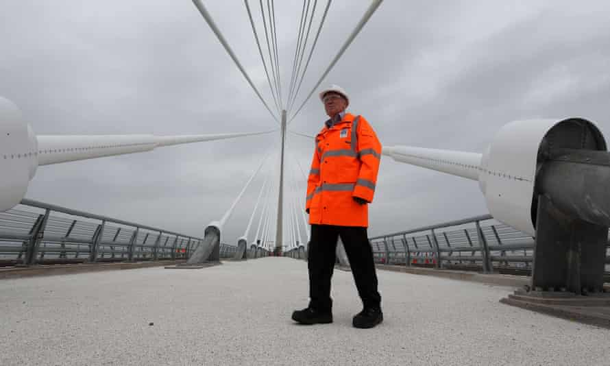 Mike Glover, the technical director, of the Queensferry Crossing.