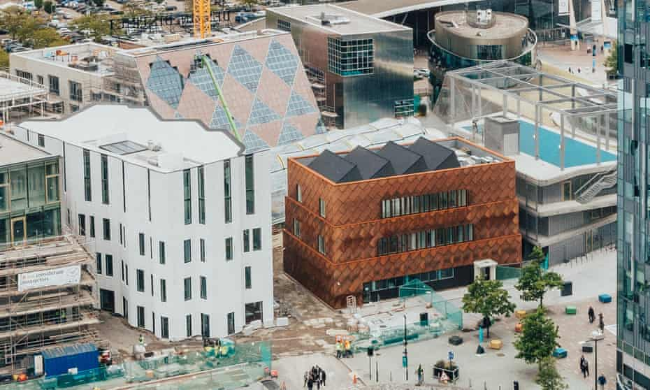 Gaudy eyeful: the Greenwich design district under construction, London, May 2021