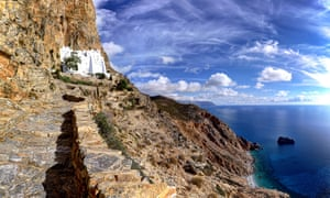The monastery of Hozoviotissa in Amorgos island.