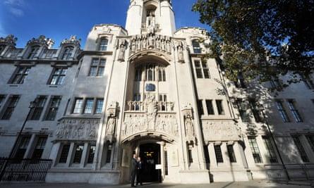 Te supreme court building in London