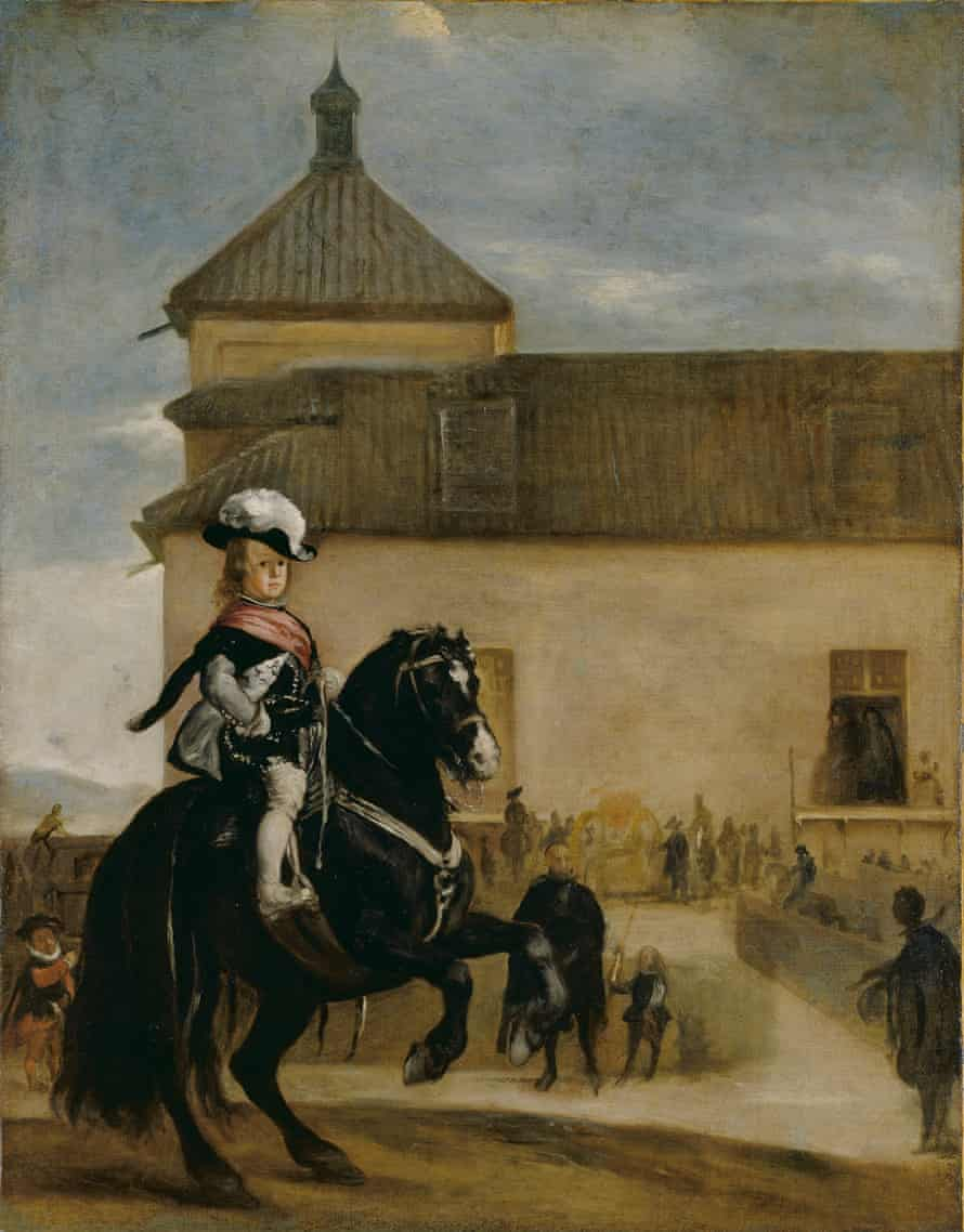 Prince Baltasar Carlos in the Riding School Spain circa 1640-45, Studio of Diego Velázquez.