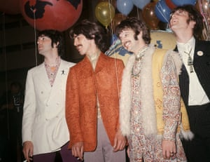 The Beatles at a rehearsal in London for an Our World broadcast.
