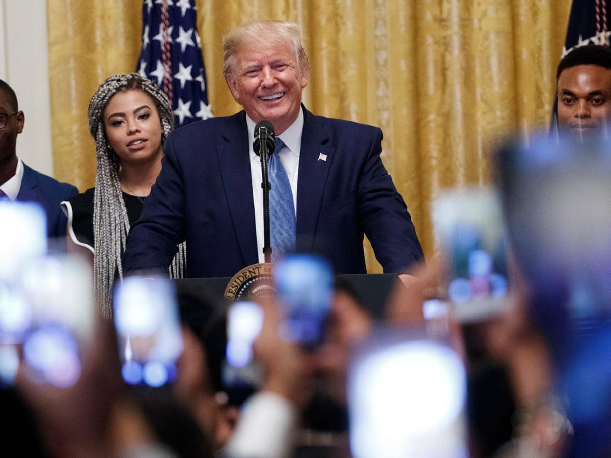 Moral Leader Standup Comic Trump Summons Alternative Reality At Black Youth Summit Donald Trump The Guardian