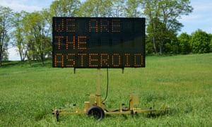 We are the Asteroid by Justin Brice Guariglia, at Storm King in New York.