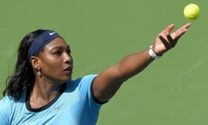 Serena Williams dropped her opening service game against Victoria Azarenka to love
