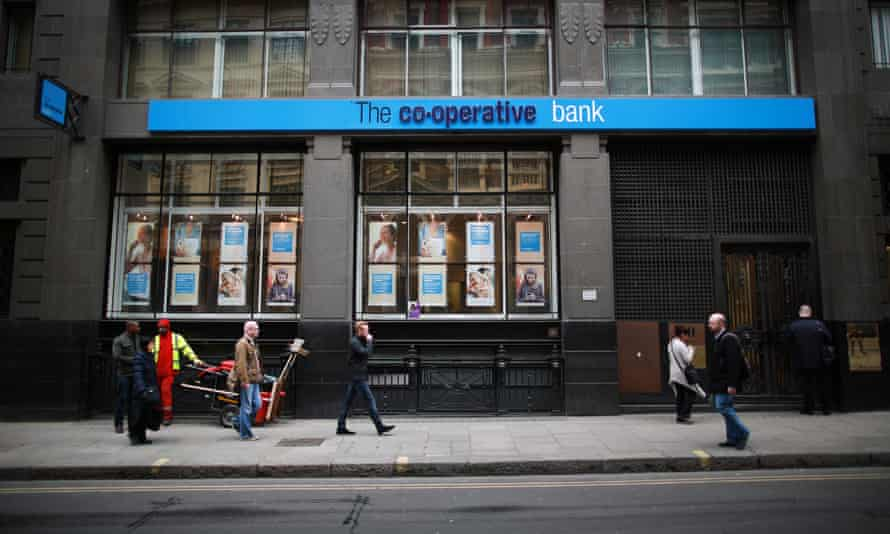 People outside Co-op Bank