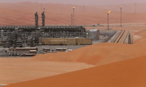 an aramco facility in the desert
