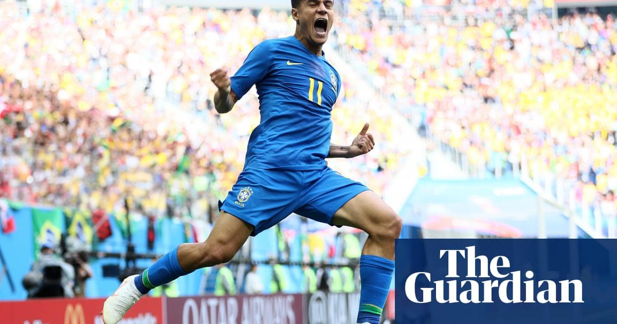 4b25c31e6 Brazil s Philippe Coutinho and Neymar snatch win to sink Costa Rica ...