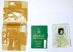 Hamzah bin Laden's Saudi passport.