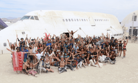 The Big Imagination art projectwith their Boeing 747 at Burning Man.