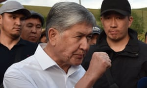Almazbek Atambayev meets with supporters in the village of Koi-Tash near the capital Bishkek in June.