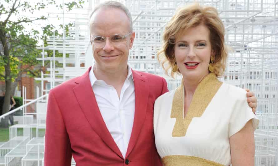 Julia Peyton-Jones with co-director of the Serpentine Gallery Hans Ulrich-Obrist.