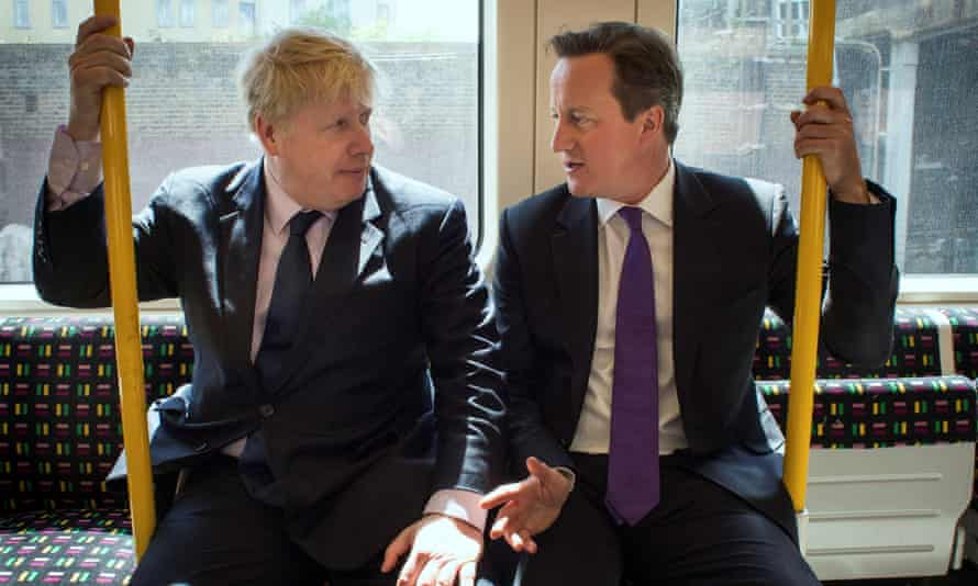 'Perhaps only Freud could tell us why Johnson named a young woman after whom his alter ego lusts 'Cameron' ... David Cameron and Johnson in 2014.