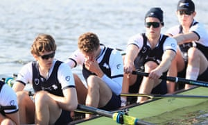 Oxford's crew after the Boat Race.