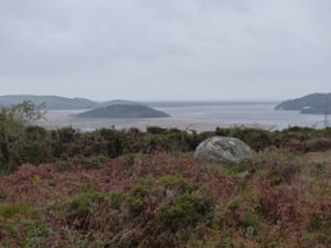 View of the Dwyryd estuary, with Ynys Gifftan seen from the shore