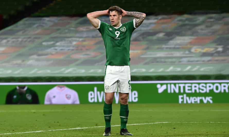 James Collins reacts to the Republic of Ireland's humiliating home defeat against Luxembourg in World Cup qualifying.