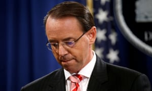 Rod Rosenstein, the deputy attorney general, was upset after the president ordered him to write the memo, according to Andrew McCabe's book.