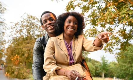 Franklyn (Micheal Ward) and Martha (Amarah-Jae St Aubyn) in Lovers Rock, part of Small Axe.