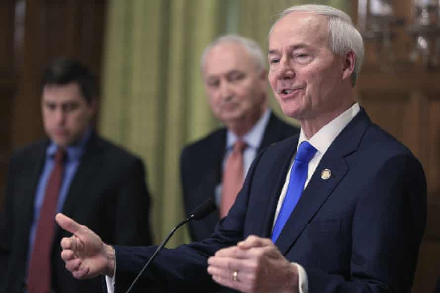 Governor Asa Hutchinson said he was signing the bill because of its 'overwhelming legislative support and my sincere and long-held pro-life convictions'.