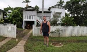 Mark Parison outside his home