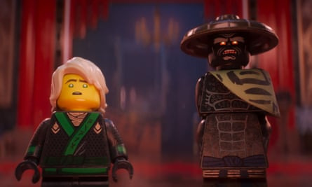'There's a lingering sense of familiarity that persists and what felt fresh in the first film, and tweaked in The Lego Batman Movie, is at risk of feeling tired here' ... The Lego Ninjago Movie.