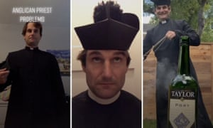 Scenes from Fr David Peters' TikTok posts.