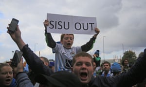 Coventry City fans express their feelings.