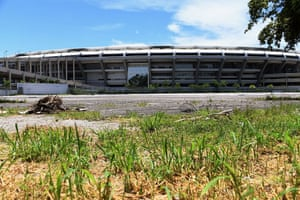 A view from outside Maracana Stadium