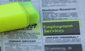 Newspaper job adverts