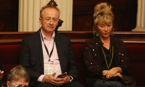Andrew Denton (left) listening to the assisted dying debate: 'This was a government-sponsored process and that's the first time that's happened.'