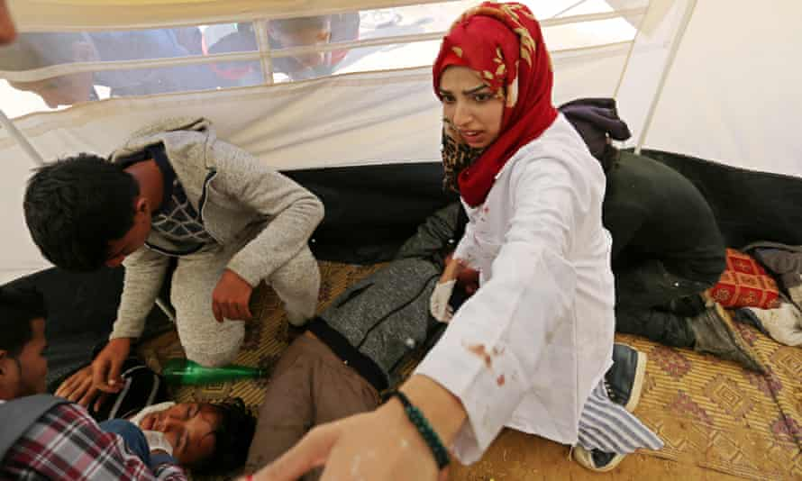Razan al-Najjar, the Palestinian paramedic who was killed near the separation fence between Israel and Gaza.