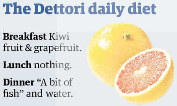 Dettori's diet