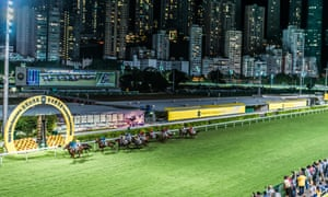 Happy Valley, Hong Kong: horse race at Happy Valley racecourse