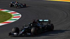 Hamilton leads Bottas.