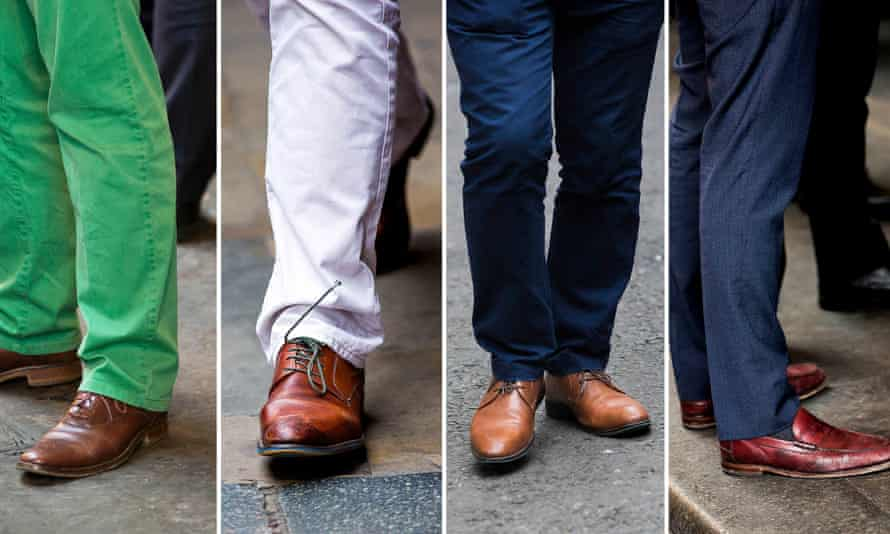 Brown shoes spotted in the City of London