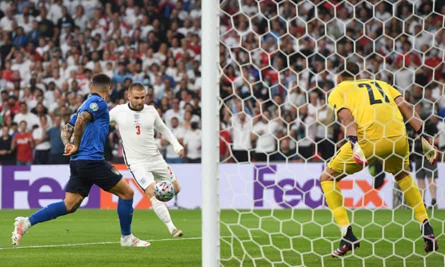 Luke Shaw converts Kieran Trippier's cross for England's early goal, the two wing-backs combining to vindicate their manager's selection.