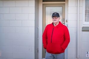 Garry Harvey, South Dunedin pensioner flat resident. South Island, New Zealand.