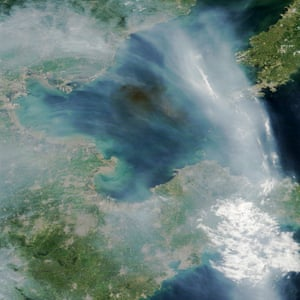 Smoke from industrial fires in China