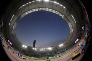 The Khalifa International Stadium in Doha is hosting the World Athletics Championships